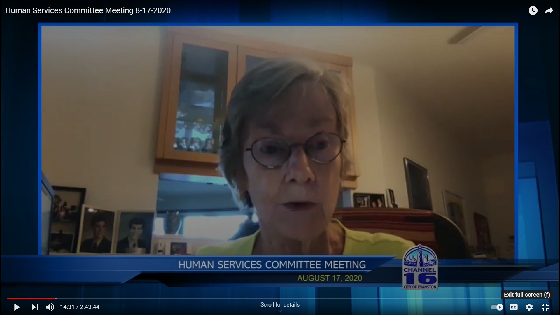Alderman Revelle discussing Public Safety on the Human Services Committee